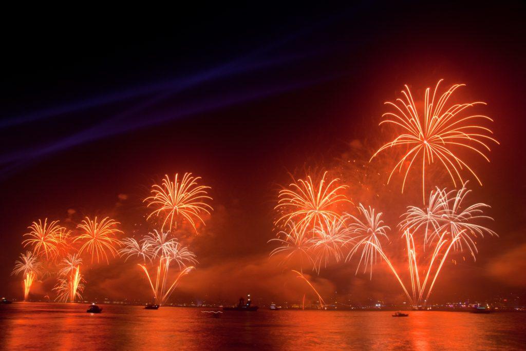 Oranges Feuerwerk