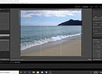 Strandbild in Lightroom nach Ausautomatischen Methode