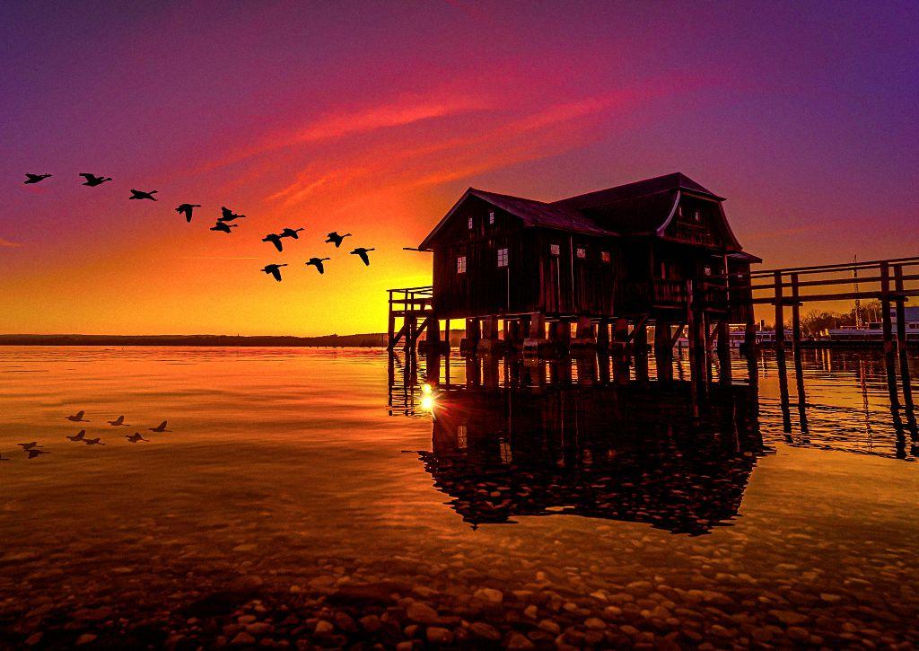 Ein Sonnenuntergang am Ammersee